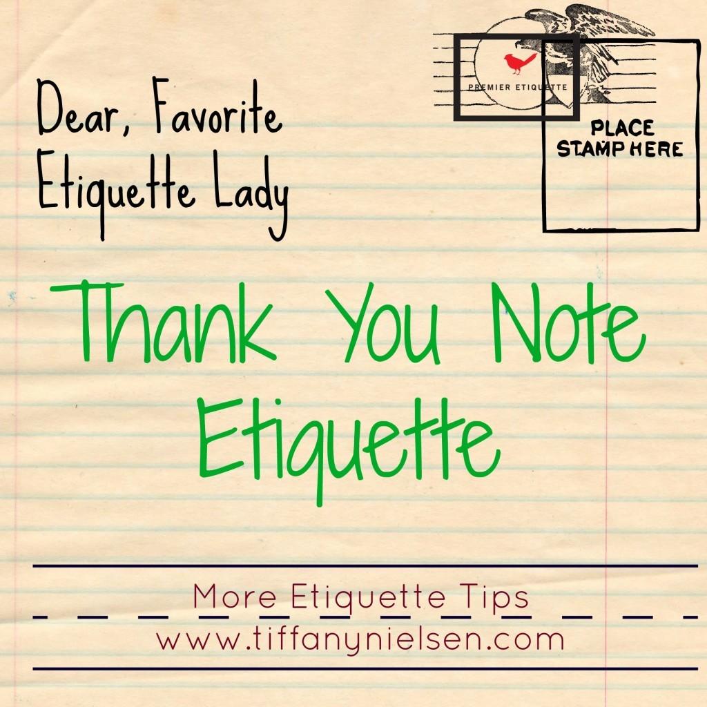 Etiquette Matters